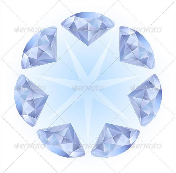 Realistic Diamonds Pattern