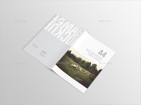 A4 Stylish Magazine Mock-up Template