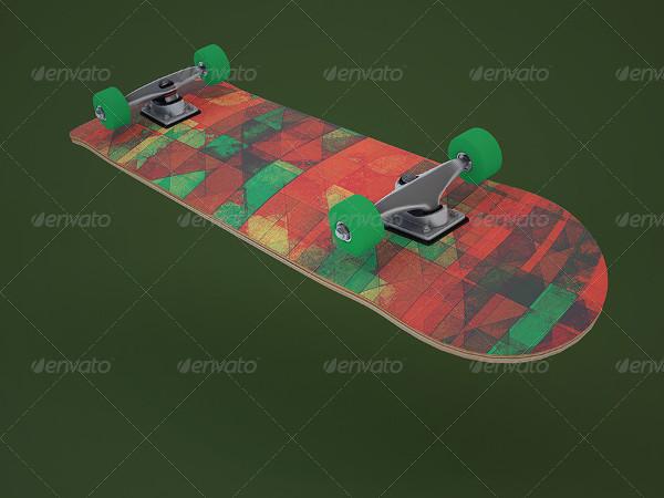 Realistic Skateboard Design Mockup