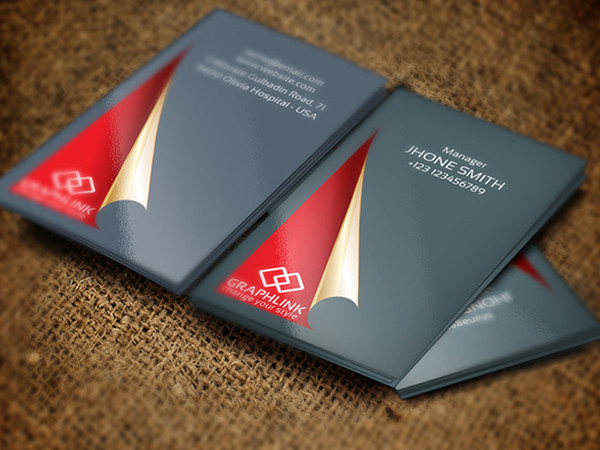 Red Carpet Fashion Business Card