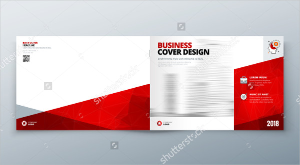 Red Corporate Landscape Brochure Design
