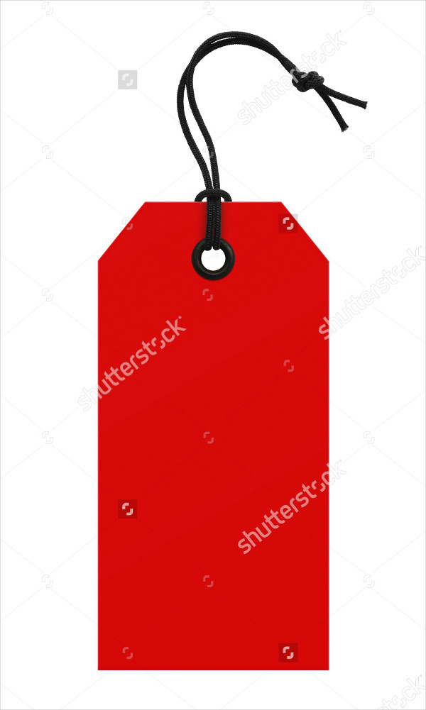 Red Price Tag Template