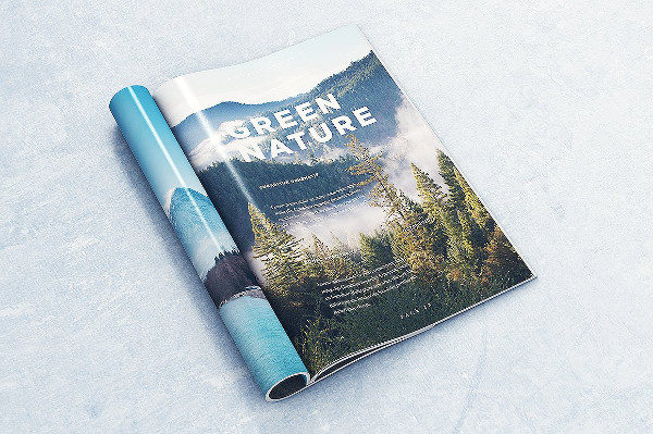 Realistic Brochure or Magazine Mock-Ups