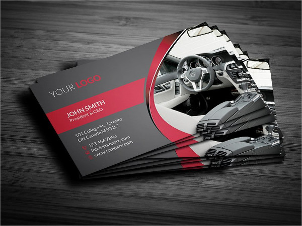 Rent A Car Business Card Template