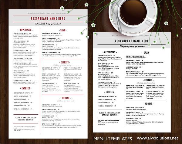 19 breakfast menu templates free premium download resort breakfast menu templates maxwellsz