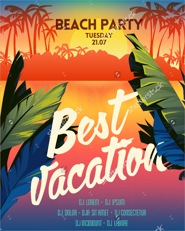 Best Summer Vacation Poster Template
