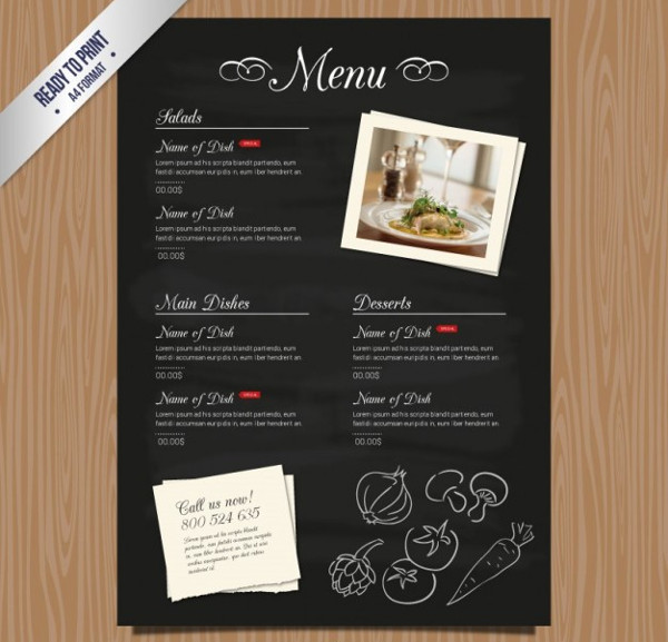 Free Download Restaurant Menu Template