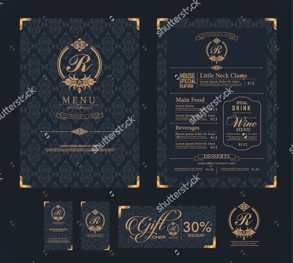 Perfect Restaurant Menu Template Vector