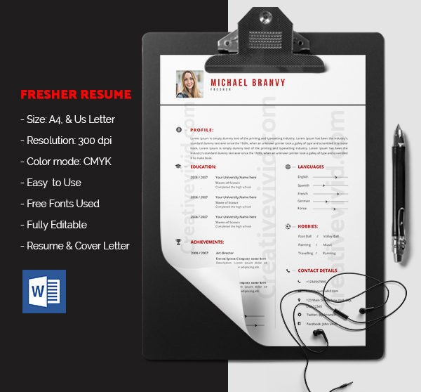 Free Download Fresher Resume