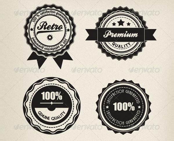 Retro Branding Badges Set