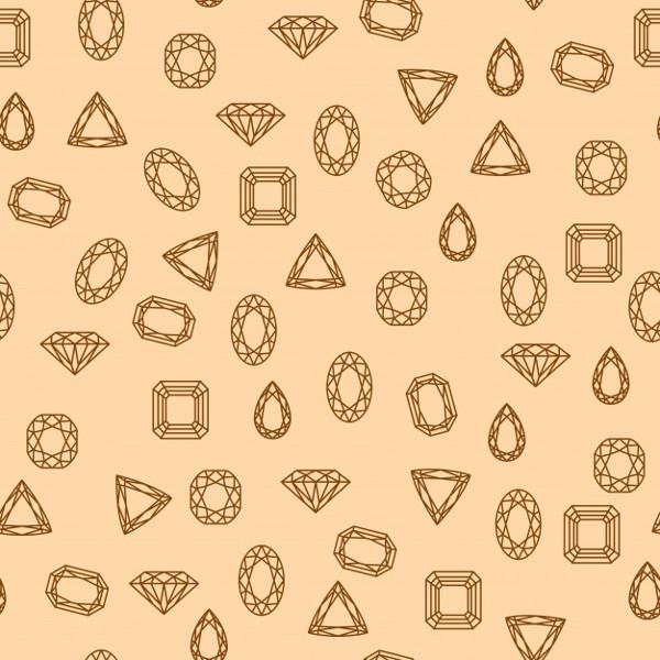 Retro Diamonds Pattern Free Vector