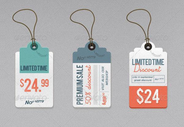 Retro Price Label Templates & Tags