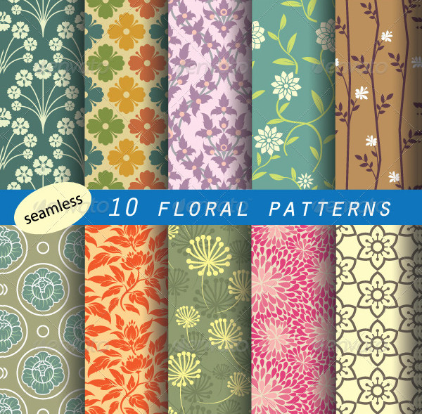 Retro Style Floral Patterns