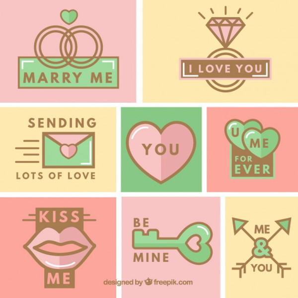 Cute Wedding Icon Collection