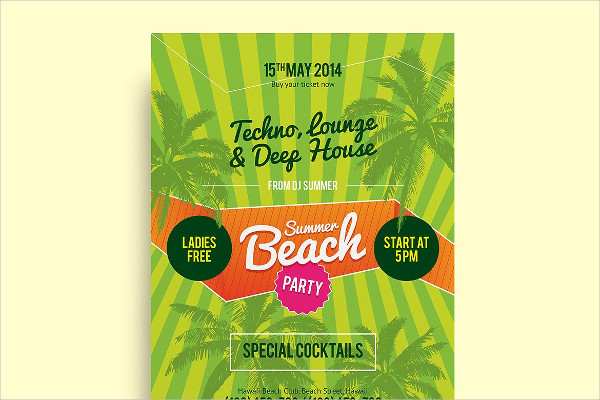 Summer Beach Party Poster Template