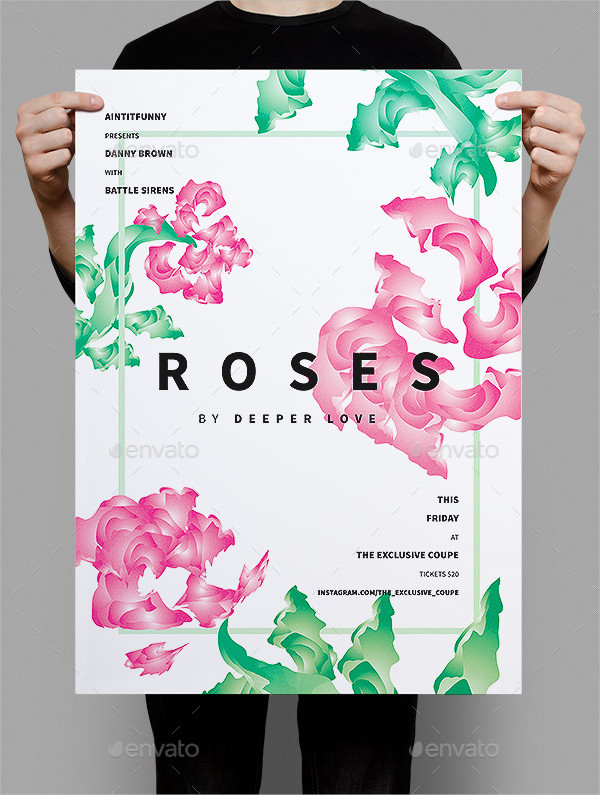Roses Summer Poster Template