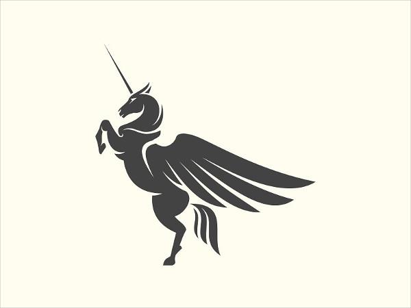 Royal Pegasus Logo Template