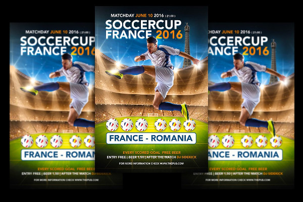 Print Ready Soccer Cup Flyers Template