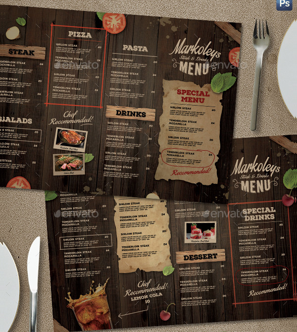 Rustic Cafe Menu Board Template