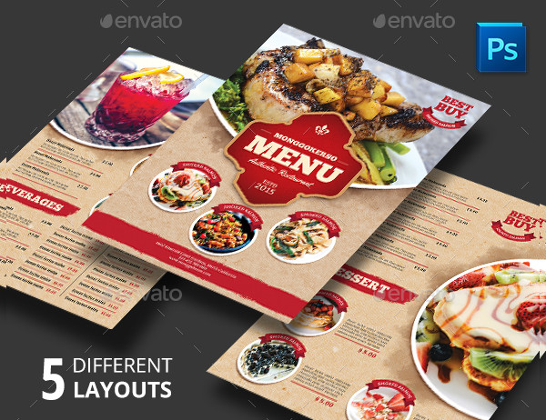 Rustic Restaurant Menu Templates