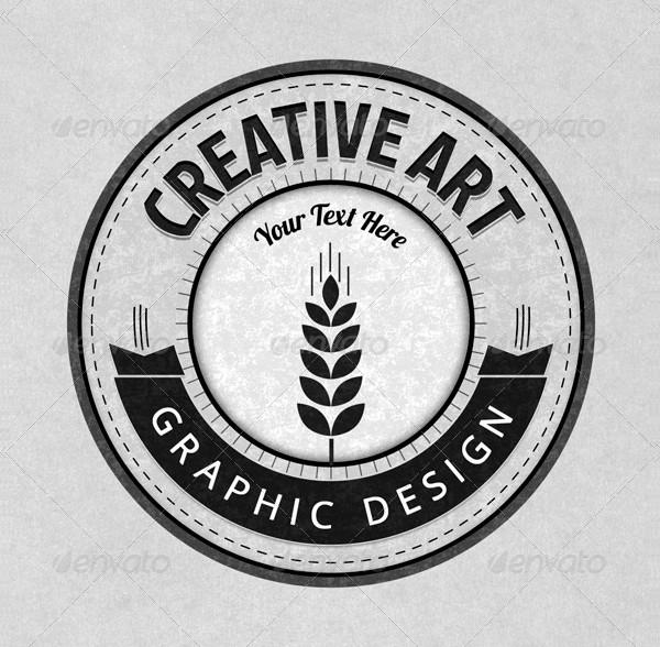 Graphic Design Retro PSD Badges