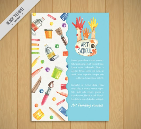 School Art Flyer Template Free
