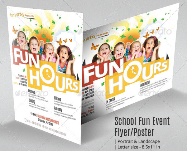 School Fun Event Flyer or Poster Template