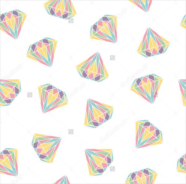 Seamless Pattern Background with Diamonds