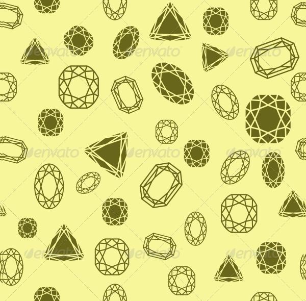 Seamless Diamond and Jewels Pattern