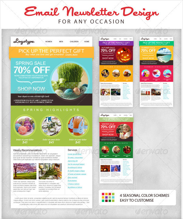 Seasonal Email Newsletter Design