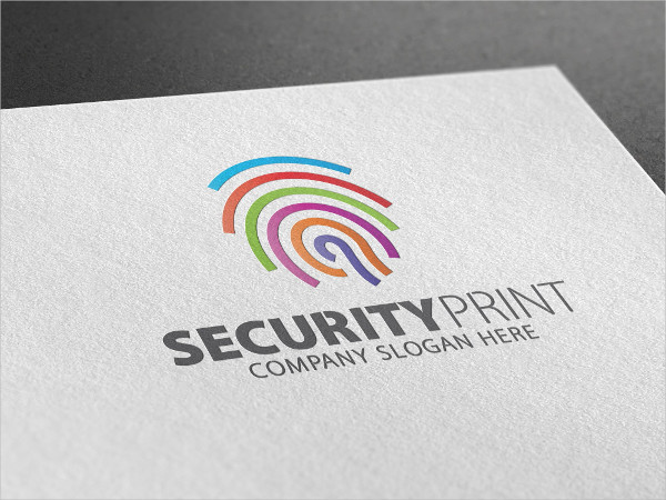 Security Print Logo Template