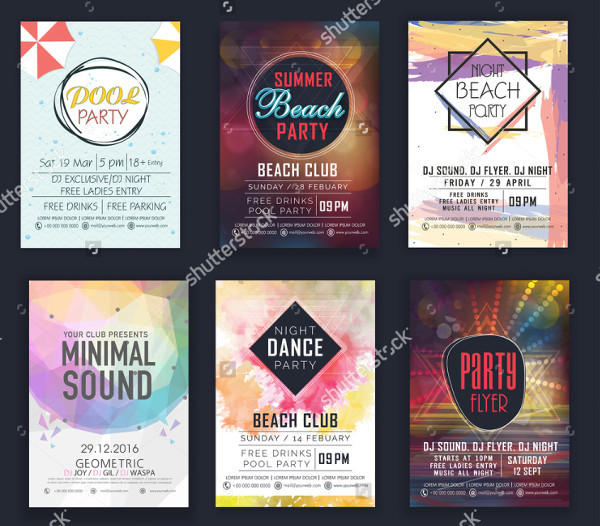 Popular Set of DJ Flyers