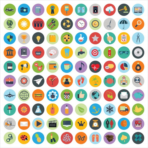 Set of Web & Technology Development Icons Free