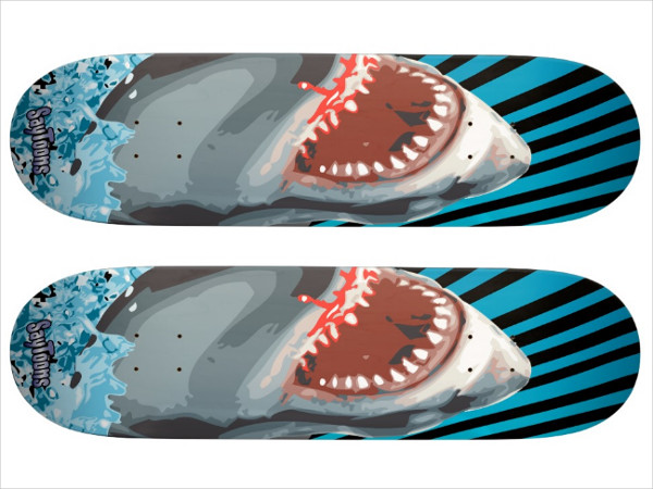 Shark Skateboard Deck Design