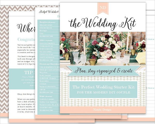 Simple Design Wedding Planning Kit