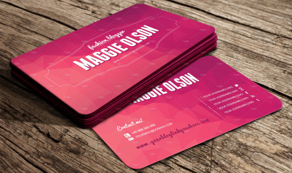 Simple Fashion Blogger Business Card