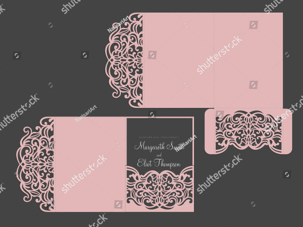 Simple Tri-Fold Wedding Invitation Design