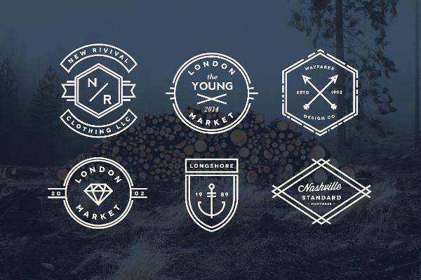 Simple Vintage Line Badges