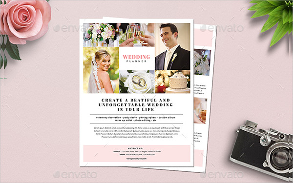 Simple Wedding Planner Flyer Template