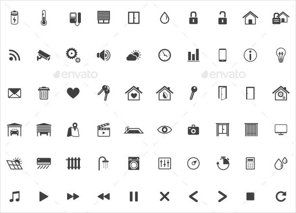 Home Management and Automation Icons