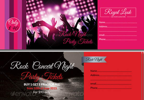4 Special Party Event Ticket Template