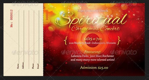 Spiritual Christmas Concert Ticket Template