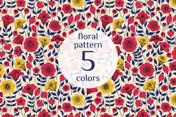Beautiful Floral Pattern for Design
