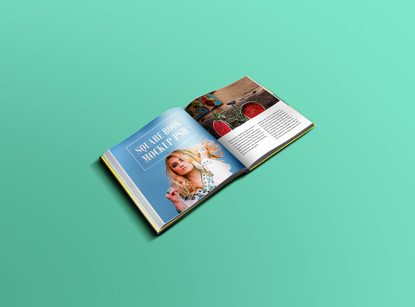 Free Square Book Mock-up PSD
