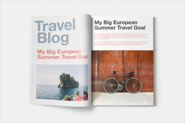 Free PSD Travel Magazine Mock-up Design
