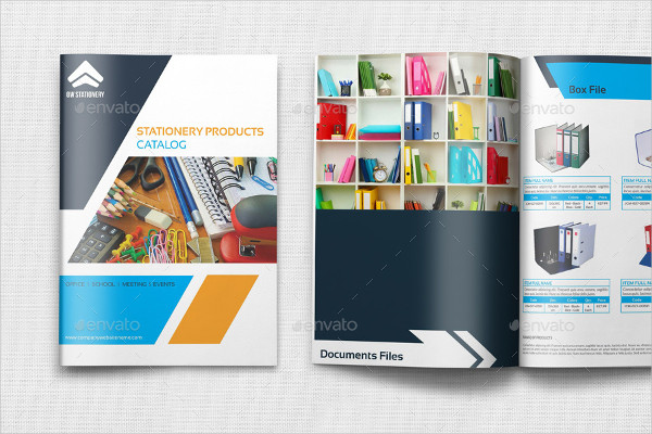 Stationery Products Catalog Templates Bundle