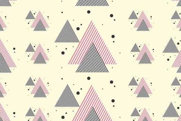 Stripe Triangles Pattern Free