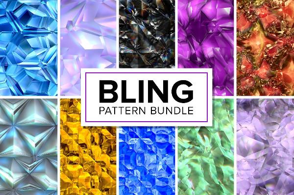 Stylish Bling Patterns Bundle