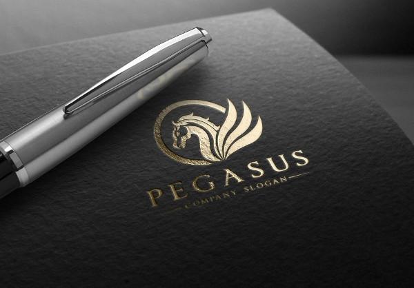 Stylish Pegasus Logo Template