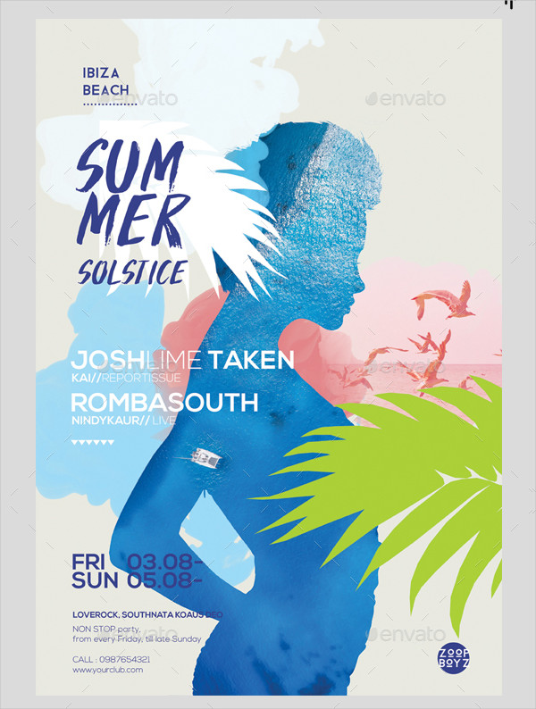 Stylish Summer Poster Template